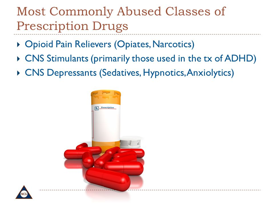 Most Commonly Abused Classes of Prescription Drugs
