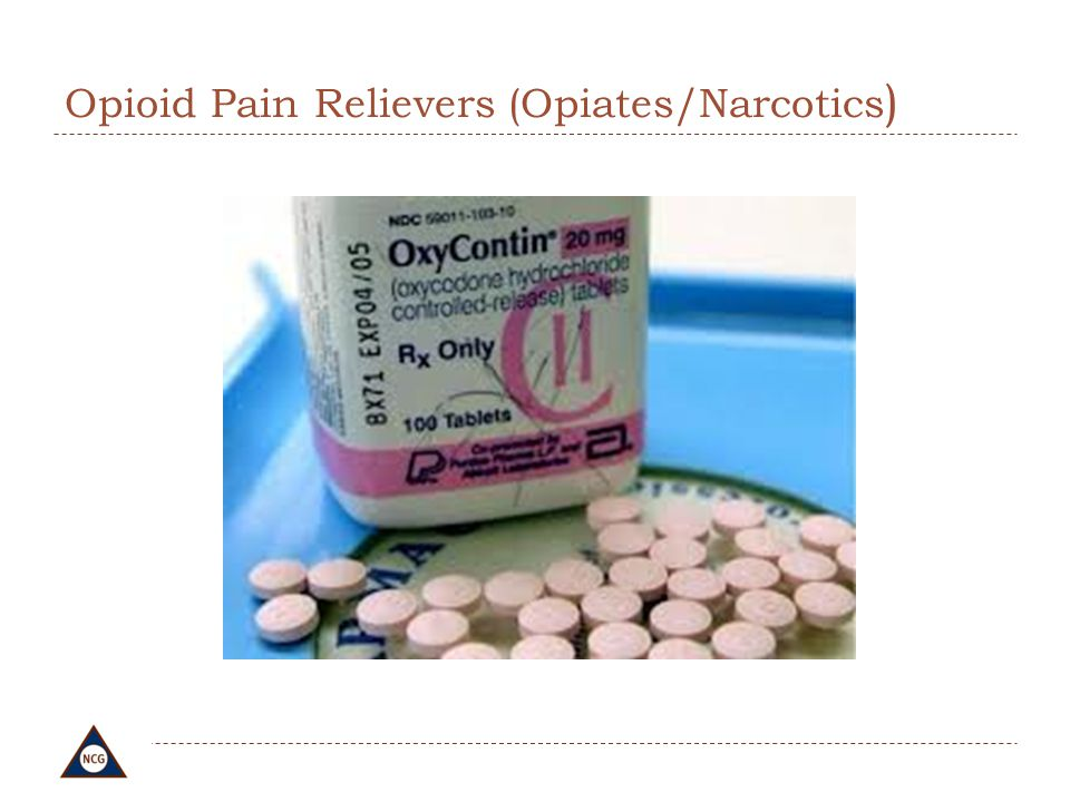 Opioid Pain Relievers (Opiates/Narcotics)