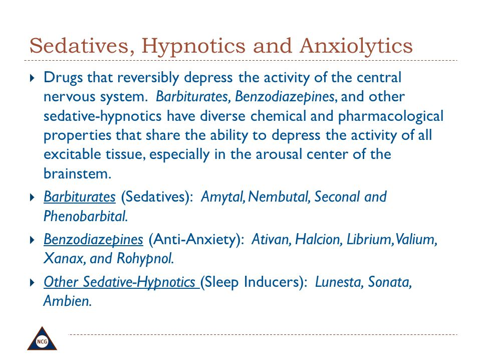 Sedatives, Hypnotics and Anxiolytics