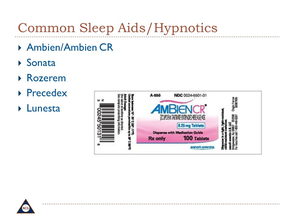 Common Sleep Aids/Hypnotics
