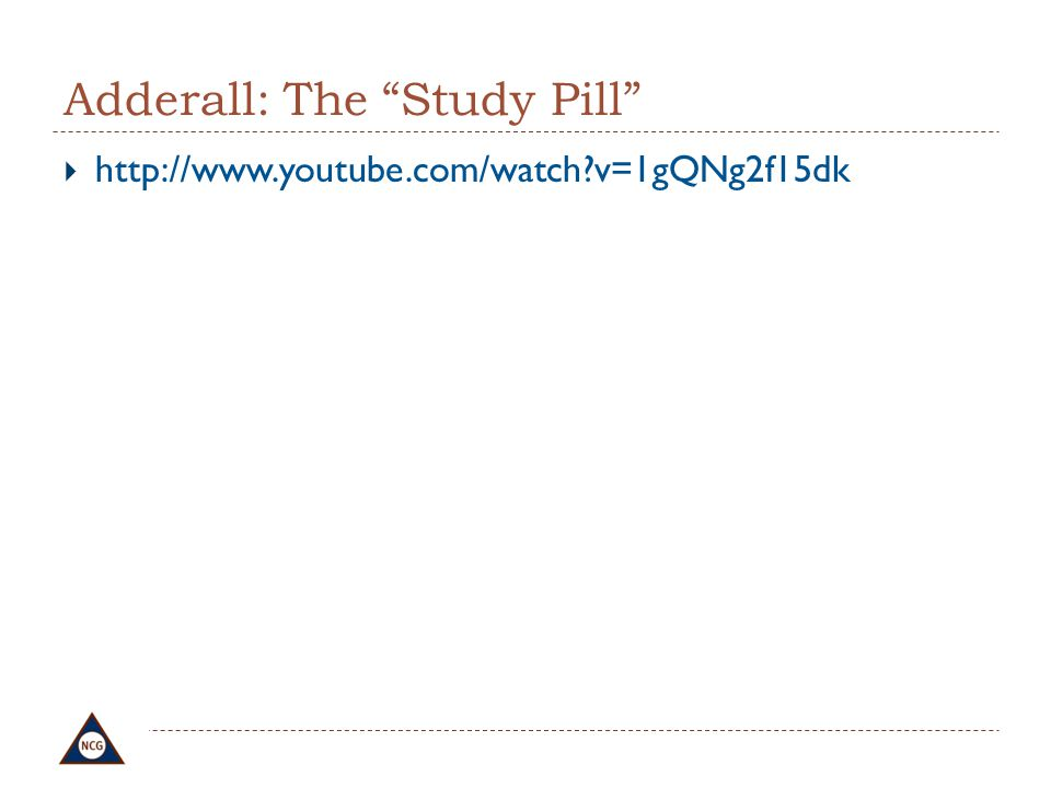 Adderall: The Study Pill