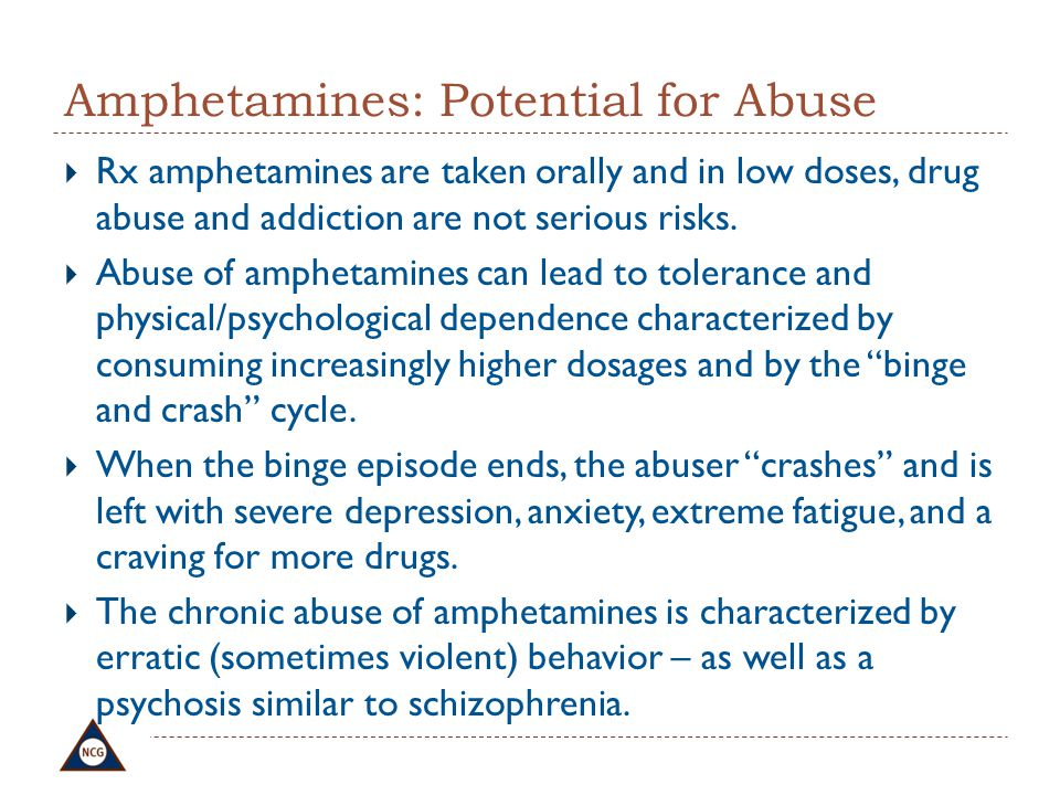 Amphetamines: Potential for Abuse