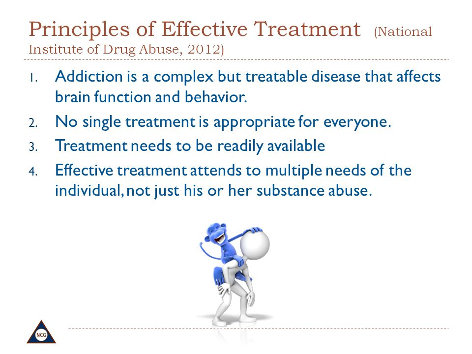 Principles of Effective Treatment (National Institute of Drug Abuse, 2012)