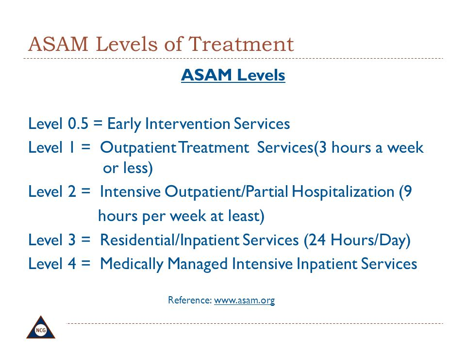 ASAM Levels of Treatment