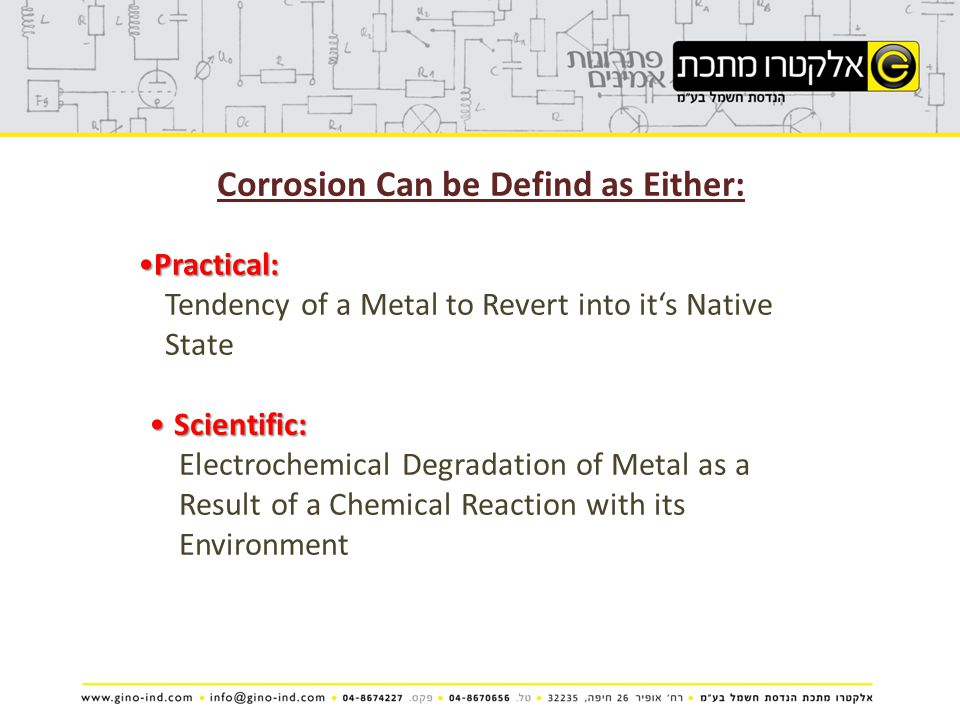Corrosion Can be Defind as Either: