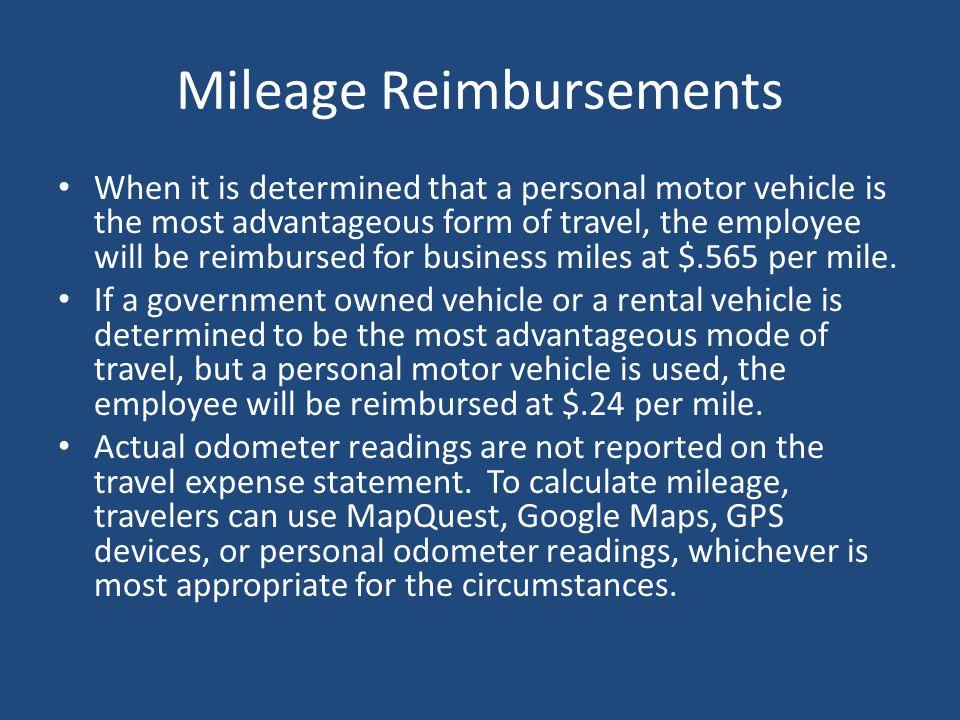 Mileage Reimbursements