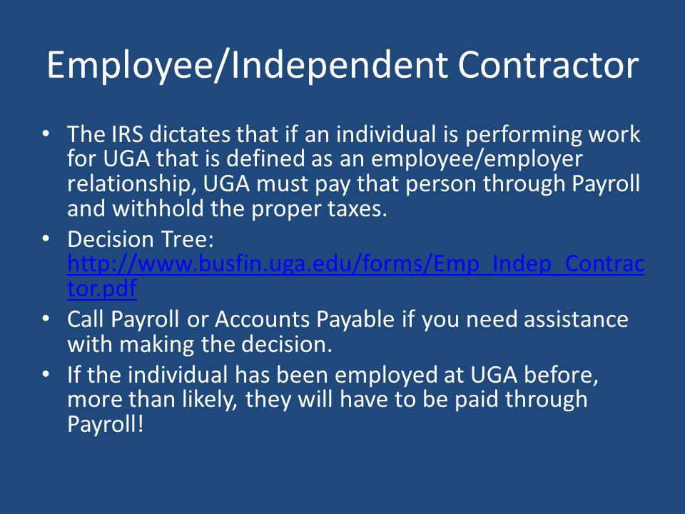 Employee/Independent Contractor