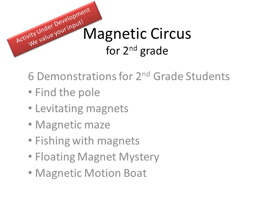 Magnetic Circus for 2nd grade