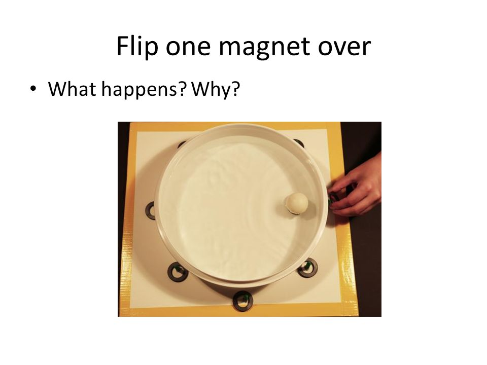 Flip one magnet over What happens Why