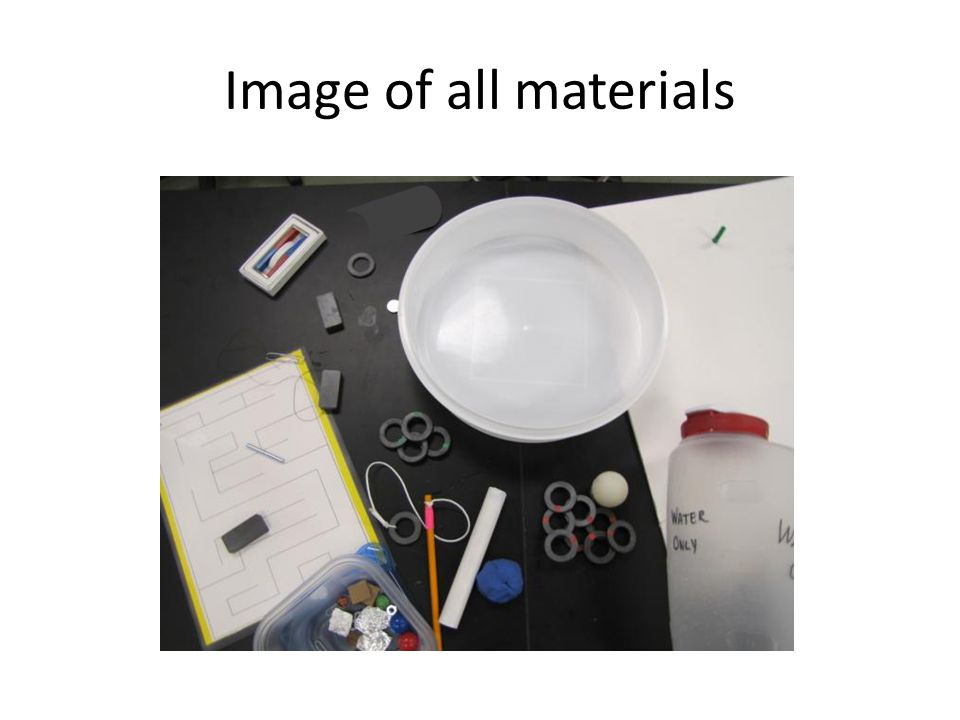 Image of all materials