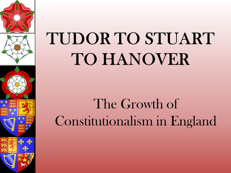 The Growth of Constitutionalism in England