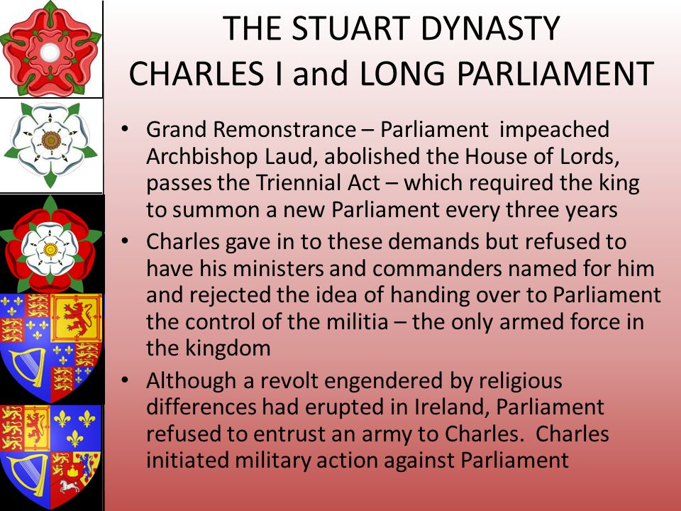 THE STUART DYNASTY CHARLES I and LONG PARLIAMENT
