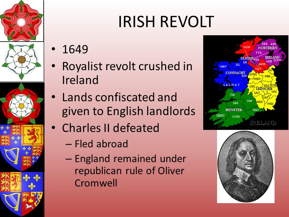 IRISH REVOLT 1649 Royalist revolt crushed in Ireland