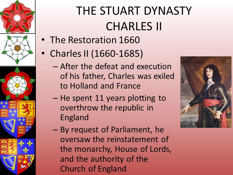 THE STUART DYNASTY CHARLES II