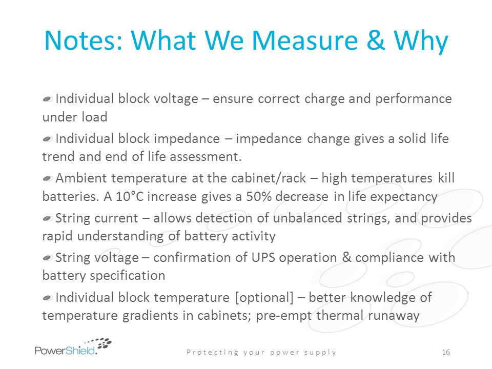 Notes: What We Measure & Why