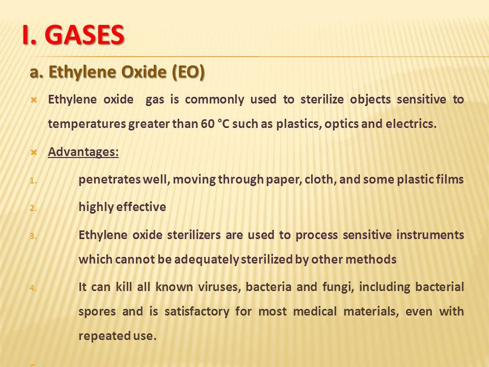 I. Gases a. Ethylene Oxide (EO)