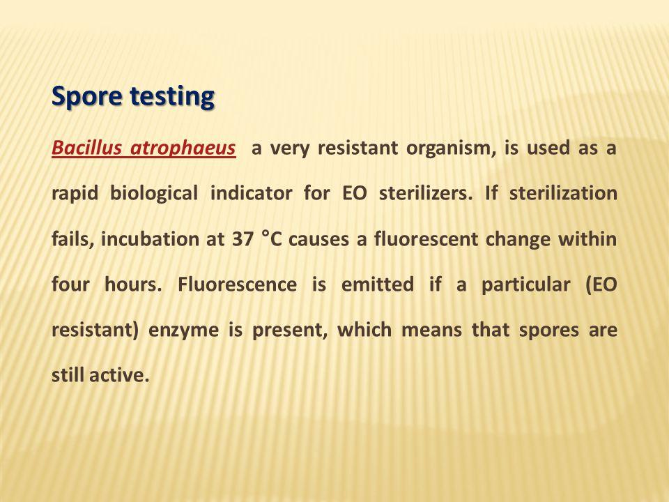 Spore testing