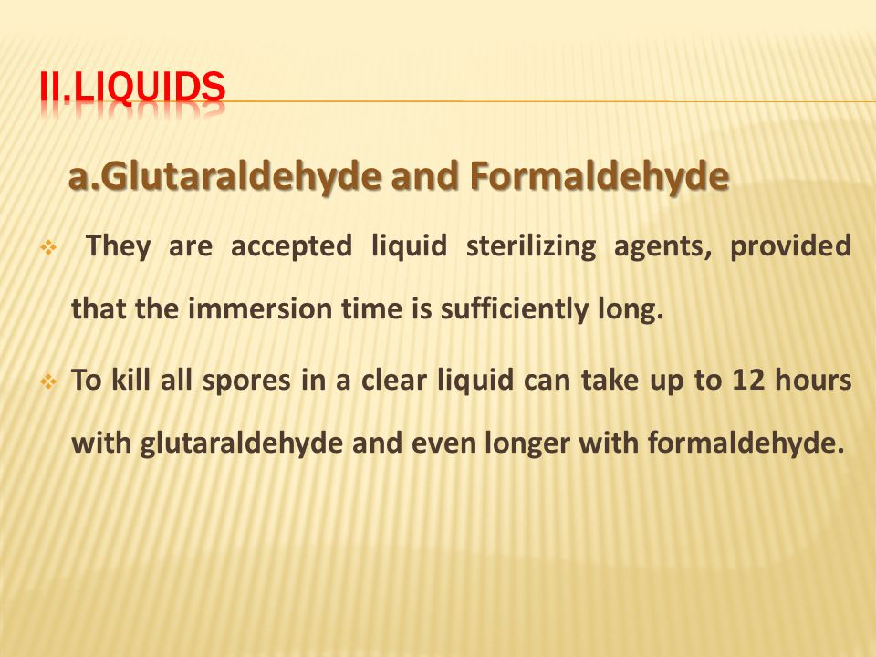 a.Glutaraldehyde and Formaldehyde