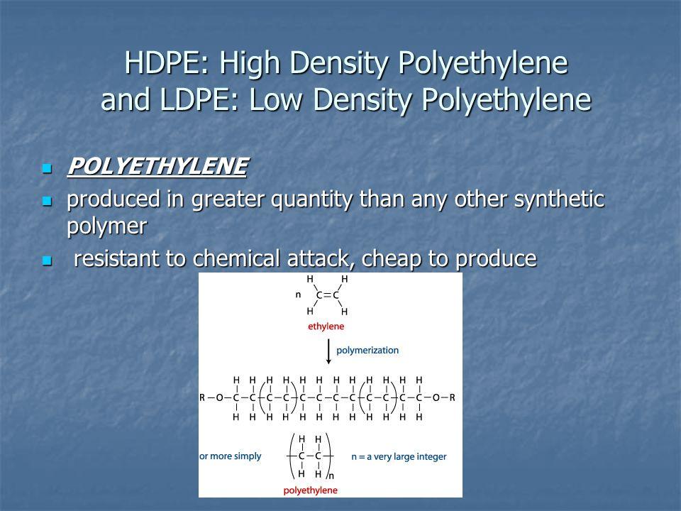 "Low Density Polyethylene Ldpe : Polymers ""plastics third generation capt science"