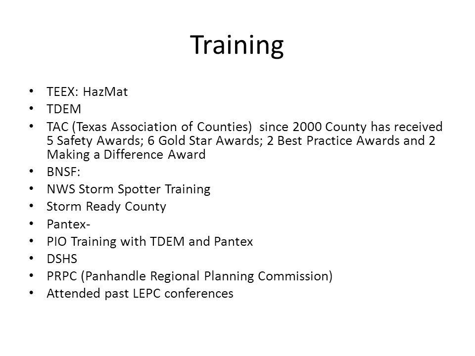 Training TEEX: HazMat TDEM