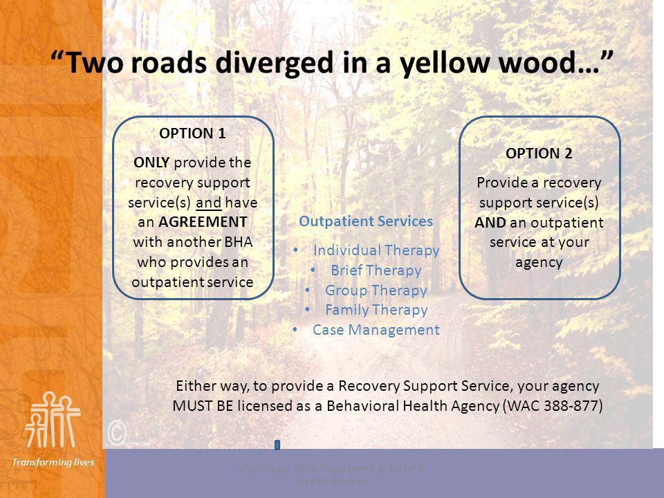Two roads diverged in a yellow wood…