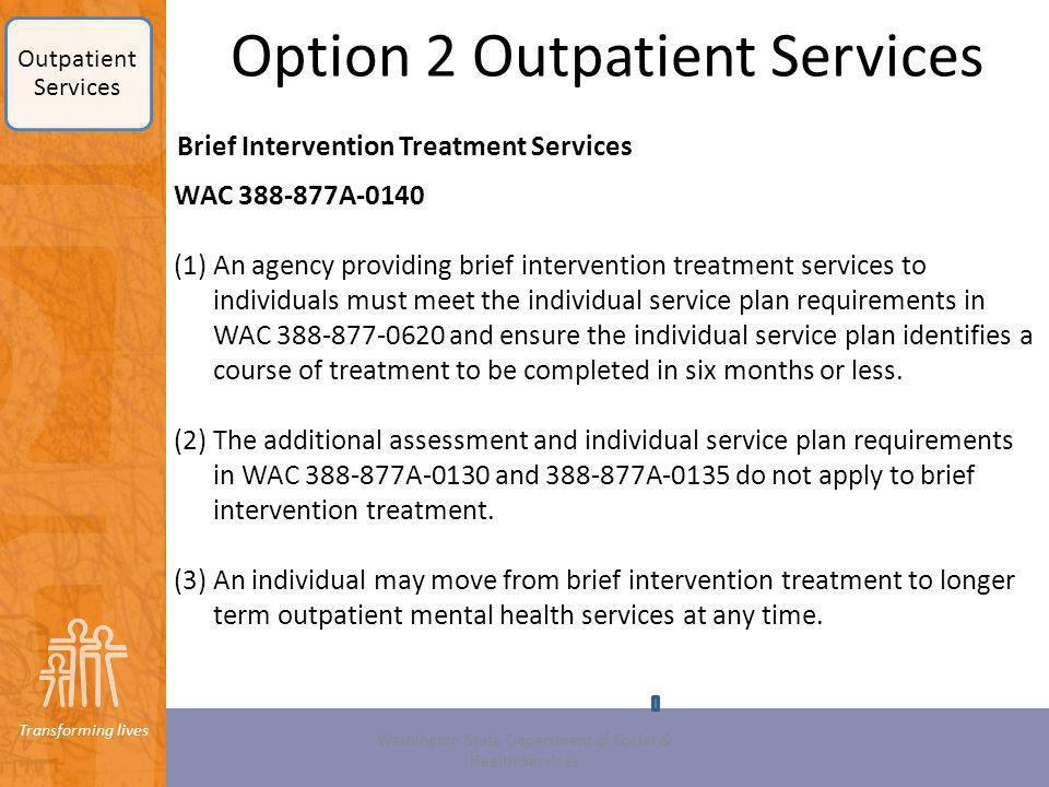 Option 2 Outpatient Services
