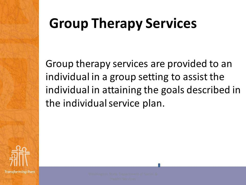 Group Therapy Services