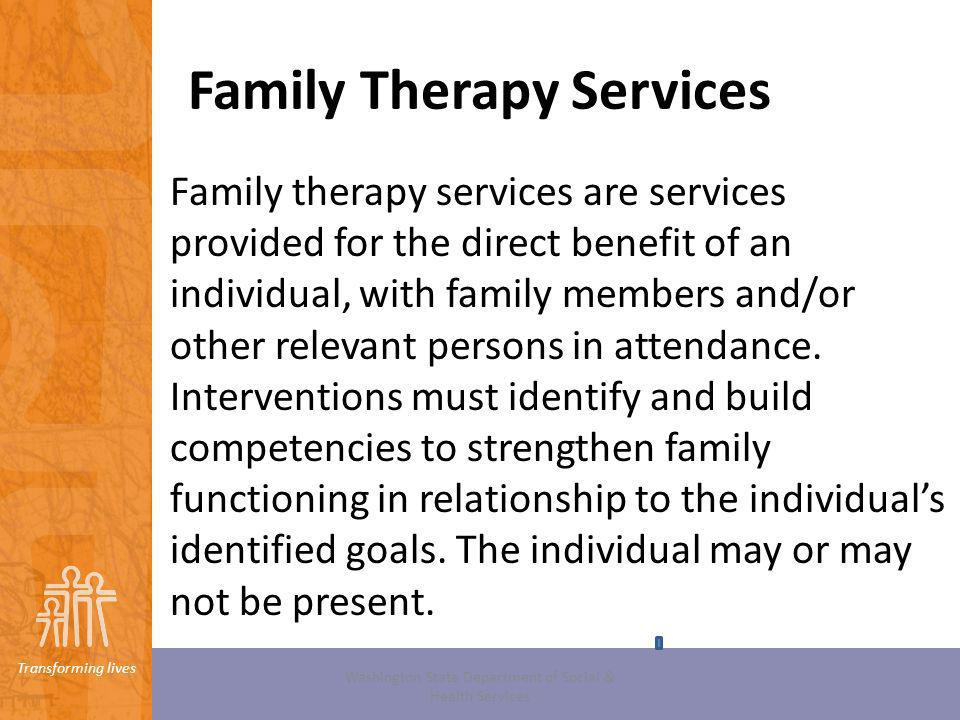 Family Therapy Services