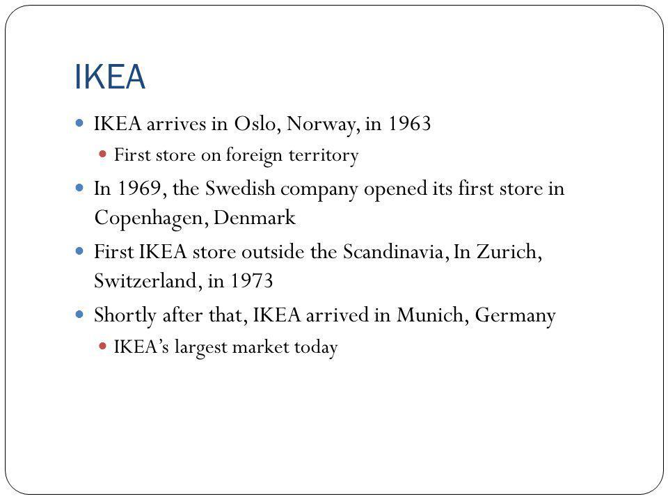 IKEA IKEA arrives in Oslo, Norway, in 1963