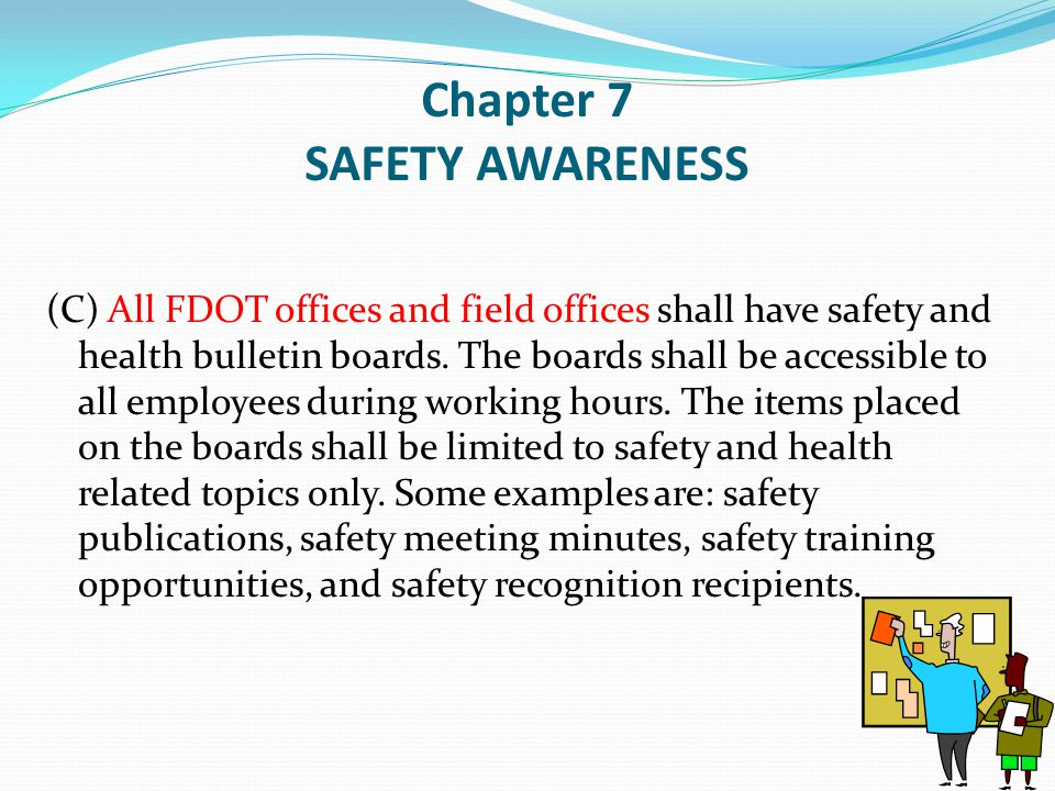 Chapter 7 SAFETY AWARENESS