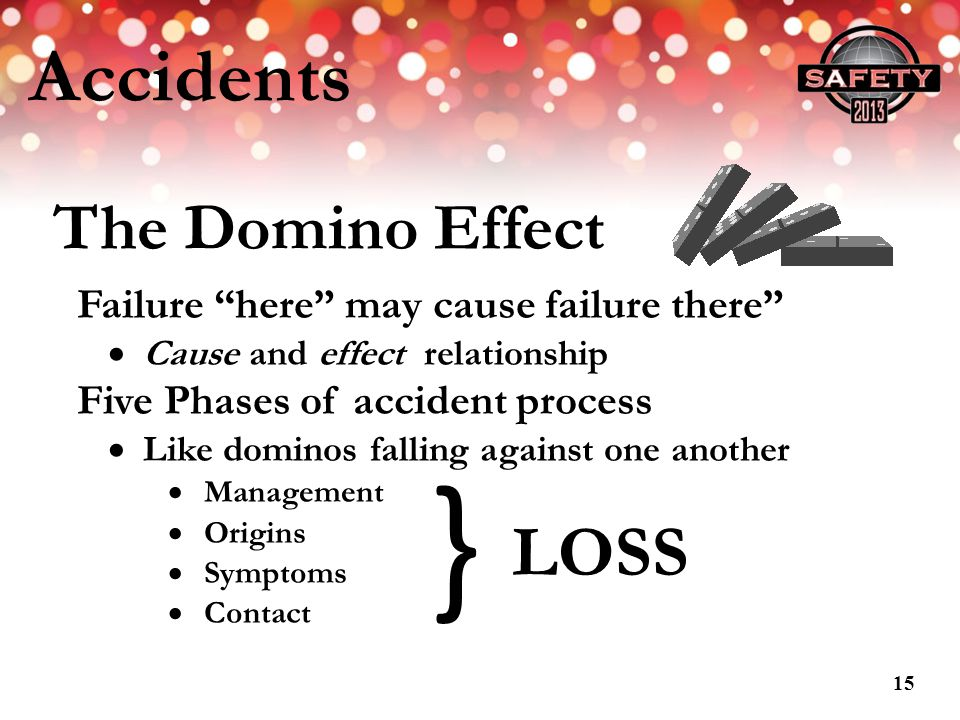 } Accidents LOSS The Domino Effect