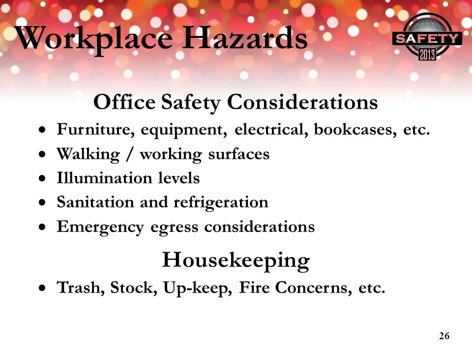 Office Safety Considerations