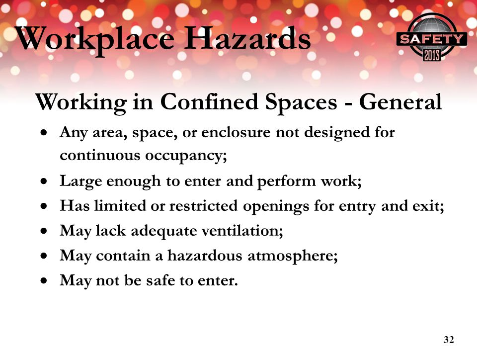 Working in Confined Spaces - General