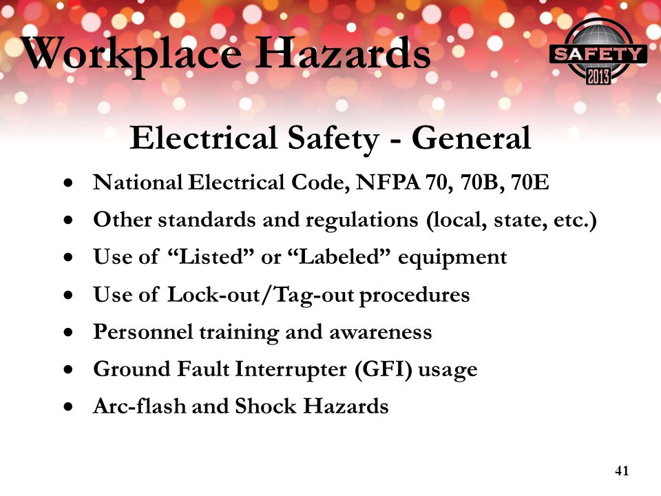 Electrical Safety - General