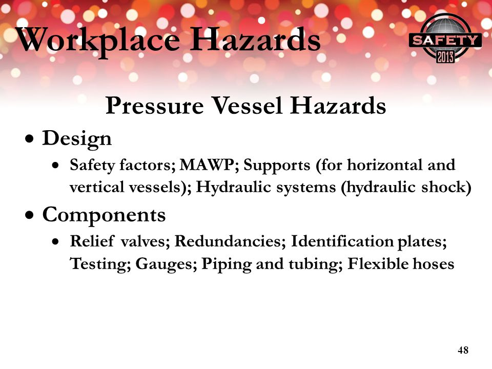 Pressure Vessel Hazards
