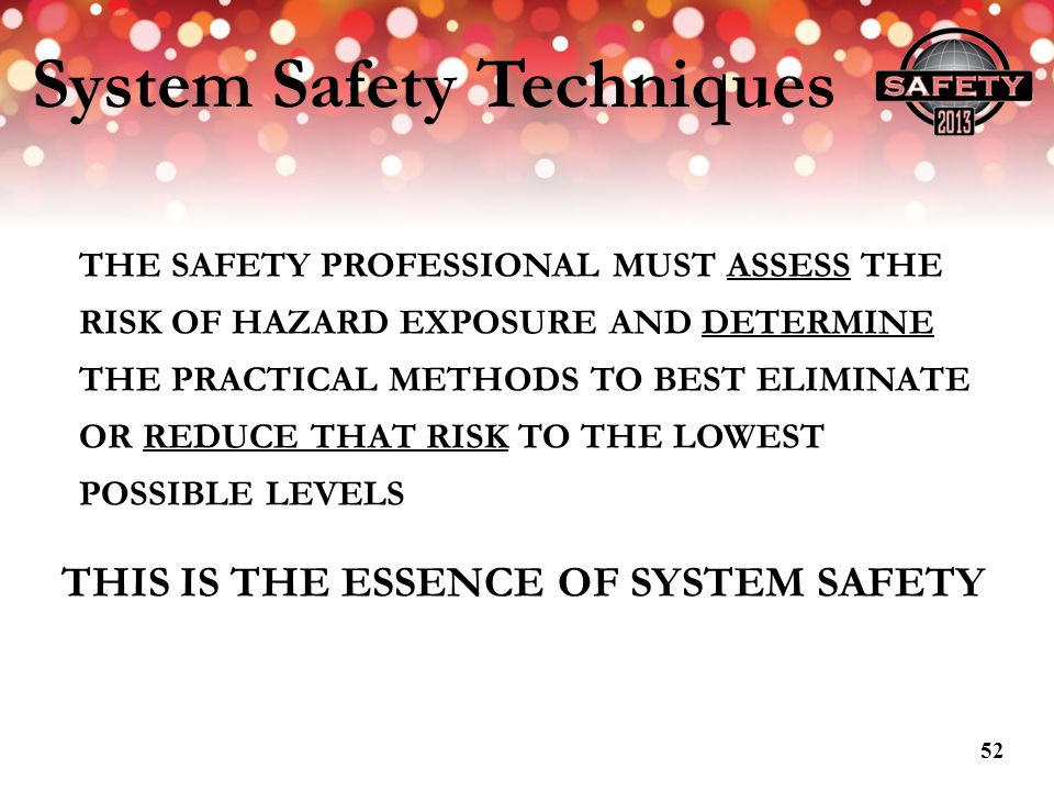 System Safety Techniques
