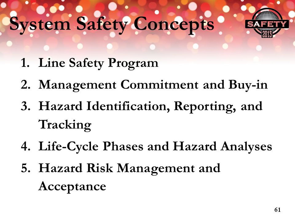 System Safety Concepts