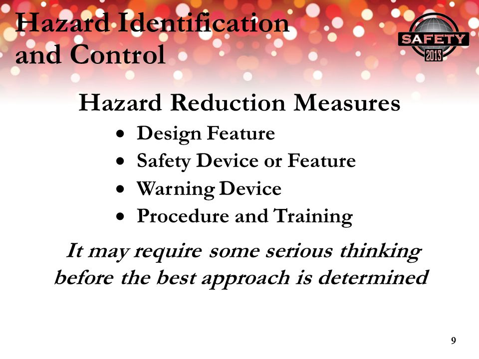 Hazard Identification and Control