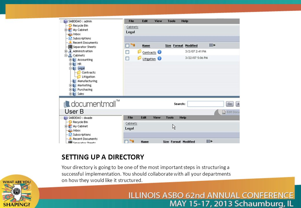 SETTING UP A DIRECTORY