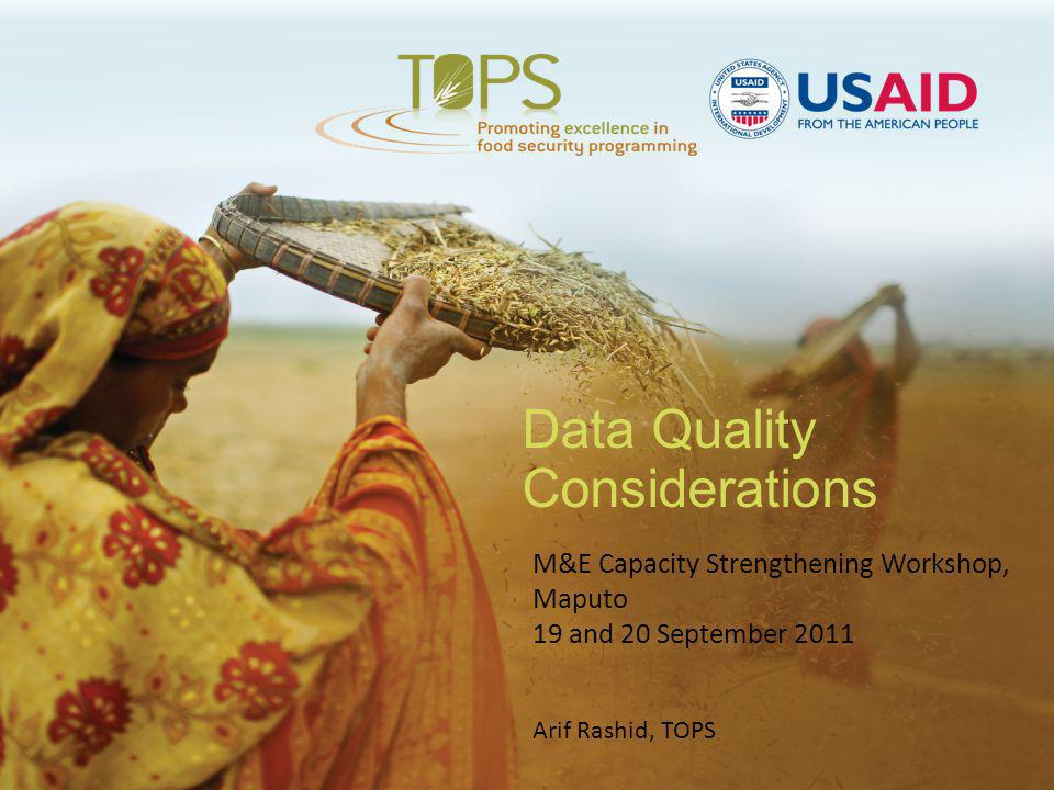 Data Quality Considerations