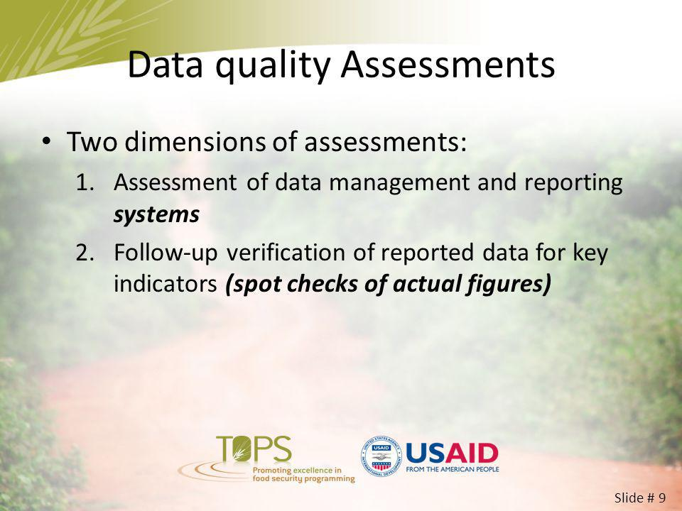Data quality Assessments