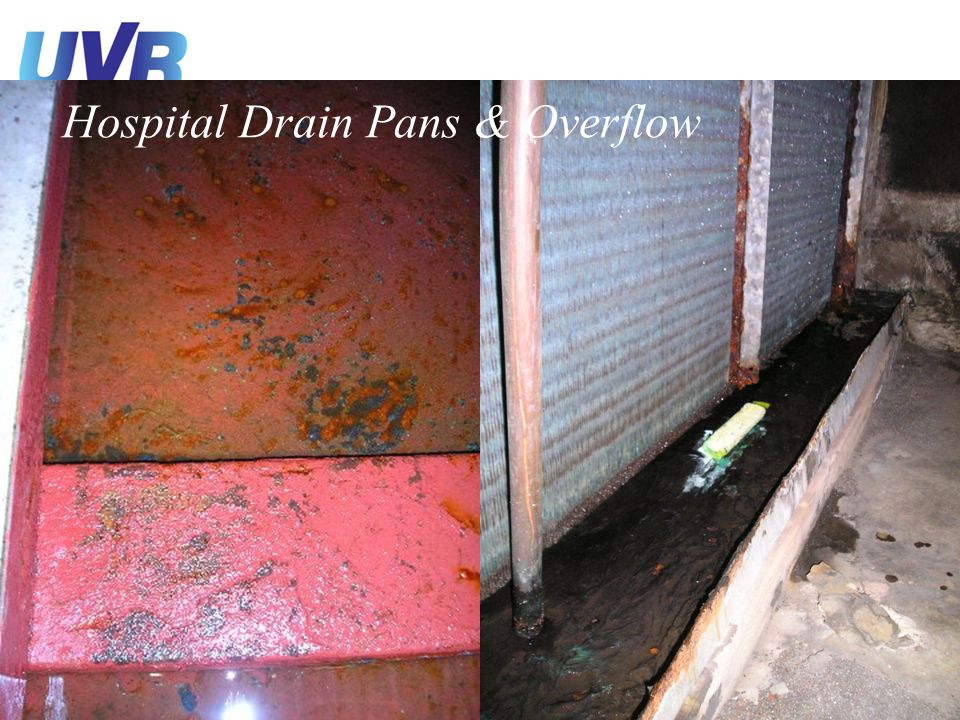 Hospital Drain Pans & Overflow