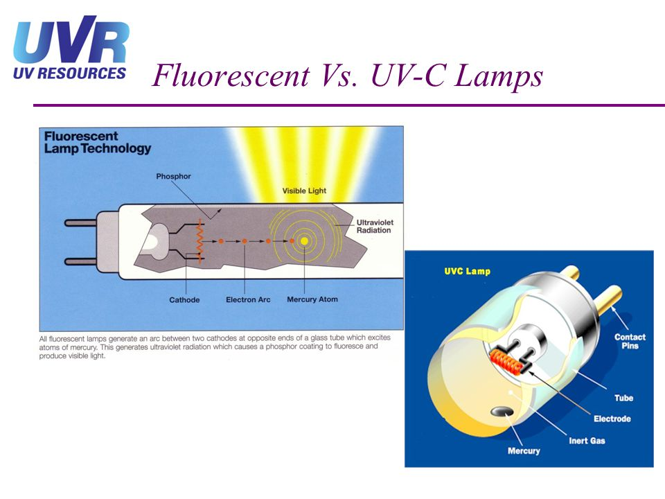 Fluorescent Vs. UV-C Lamps
