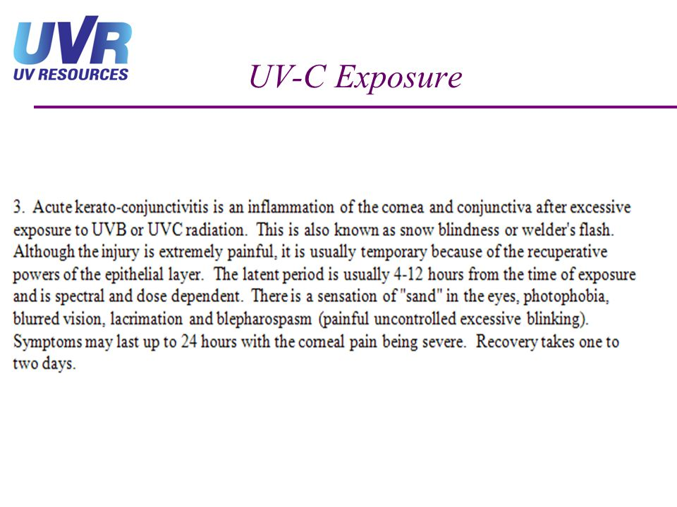 UV-C Exposure