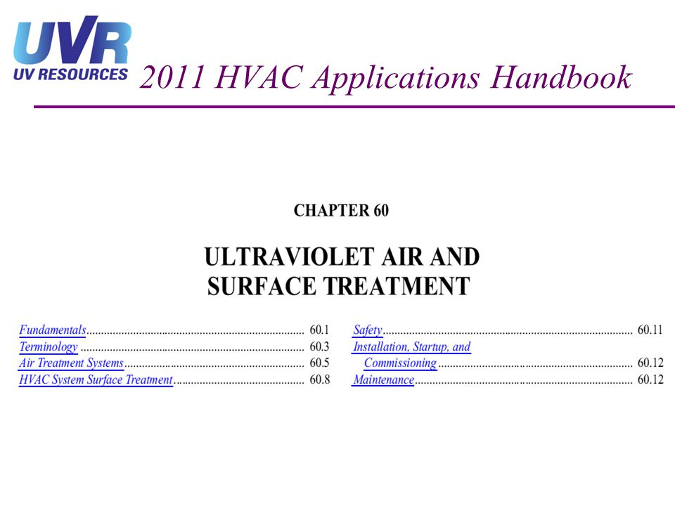 2011 HVAC Applications Handbook