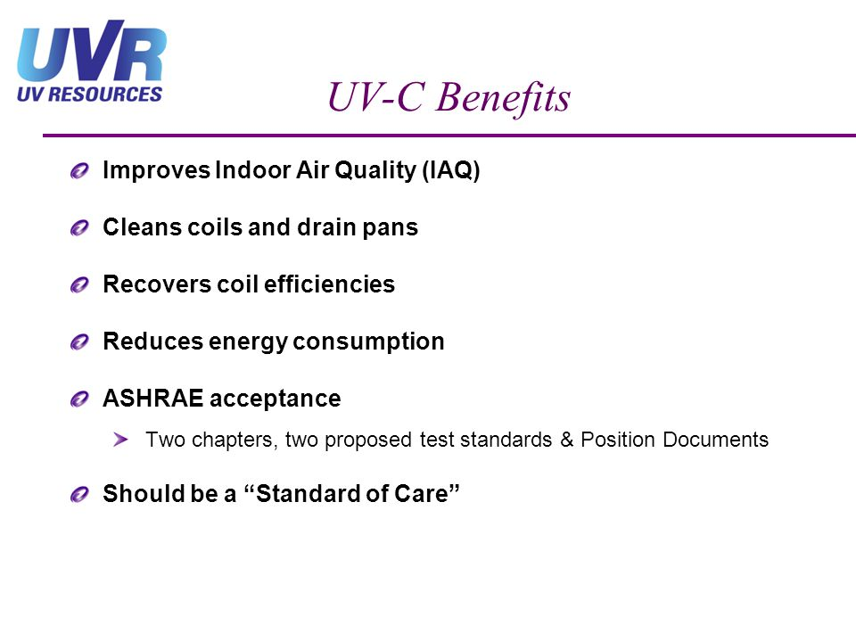 UV-C Benefits Improves Indoor Air Quality (IAQ)