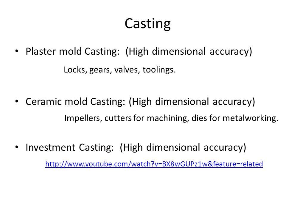 Casting Locks, gears, valves, toolings.
