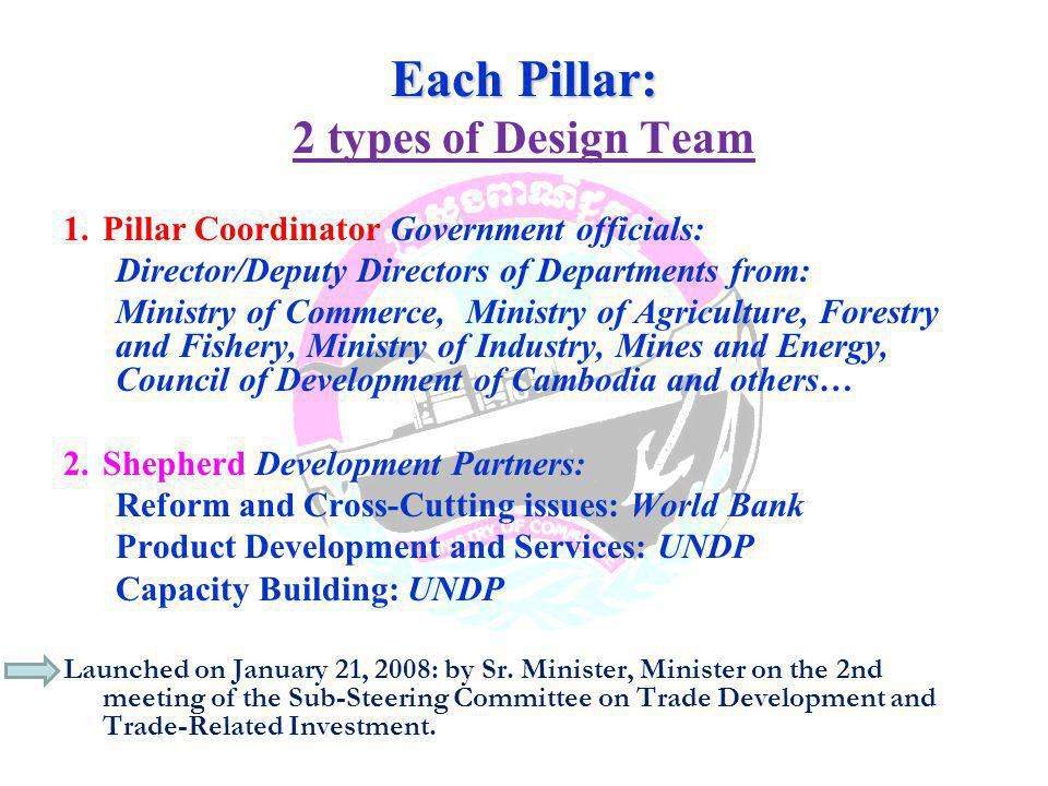 Each Pillar: 2 types of Design Team