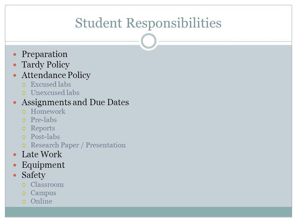 Student Responsibilities