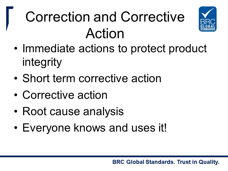 Correction and Corrective Action